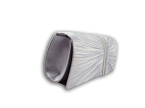 XPGG - Borsetta senza manici donna Nero (argento)