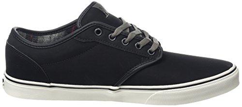 Vans Atwood, Sneakers Homme Noir (mte Flanelle / Noir / Bungee)