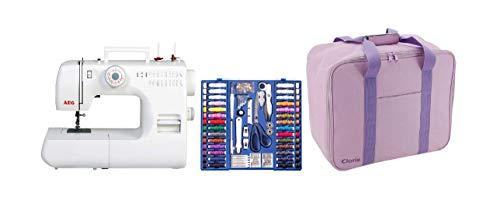 AEG Set 12K268 Nähmaschine inklusive Koffer und Zubehörset, Weiß, 30, 3