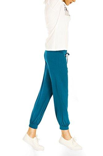Bestyledberlin Pantalon de sport femme, jogging boufant Marron Clair