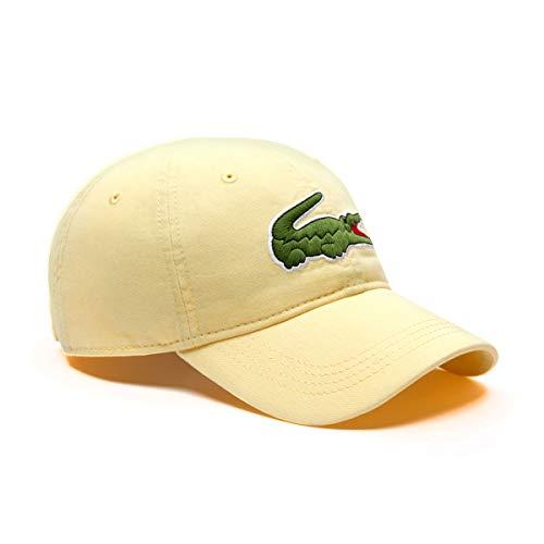 Lacoste Herren Big Croc Gabardine Cap, verstellbar - Gelb - Einheitsgröße