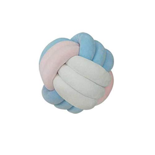 Kissen Kreatives Kissen Nettes Kissen 3-farbig handgeknüpft Lovely Round Knot Cushion Soft Plush Decorative Cushion for Car Sofa Home Office Decoration Geschenk