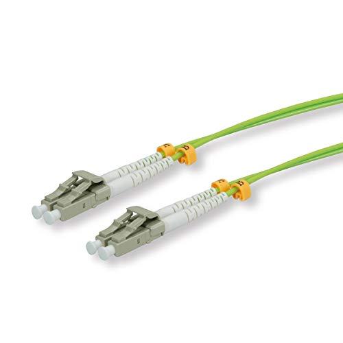 ROLINE LWL Netzwerkkabel I LC LC Multimode Glasfaser Kabel I OM5 Duplex Patchkabel I 2m grün -