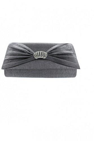 ceremonia-de-los-rhinestones-del-bolsillo-mujer-con-pliegues-drapeados-gris-unique
