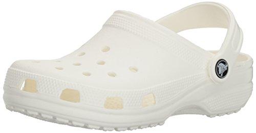 Crocs Unisex-Erwachsene Classic Clogs, Weiß (White), 42/43 EU