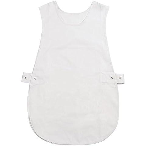 Unisex Gilet Senza Maniche Cappotto lavoro Outfit Cape grembiule da cucina protettiva nuovo, plastica, Bianco, 2