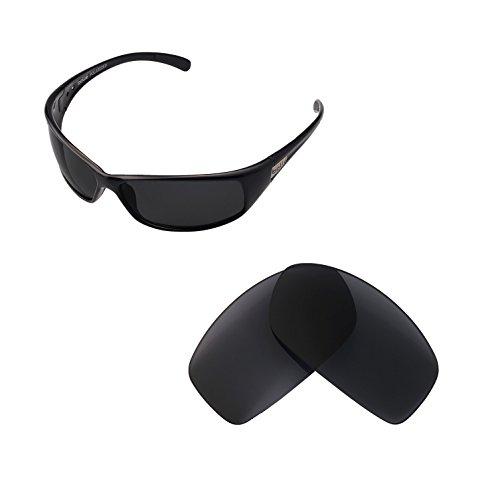 Walleva Ersatzgläser für Bolle Recoil Sonnenbrille - Mehrfache Optionen verfügbar (Schwarz - polarisiert)