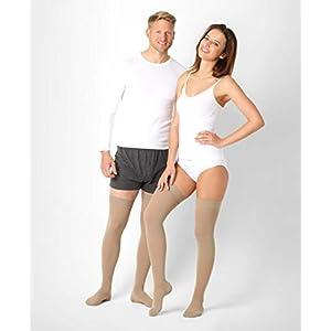 ®BeFit24 Abgestufte medizinische Kompressionsstrümpfe (18-21 mmHg, 90 Den, Klasse 1) für Damen und Herren – Stützstrümpfe für Flug und Schwangerschaft – Medical Compression Stockings