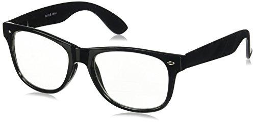Moda Retro NERD Geek Übergroße Brillen mit Federbügel, schwarzer Rahmen