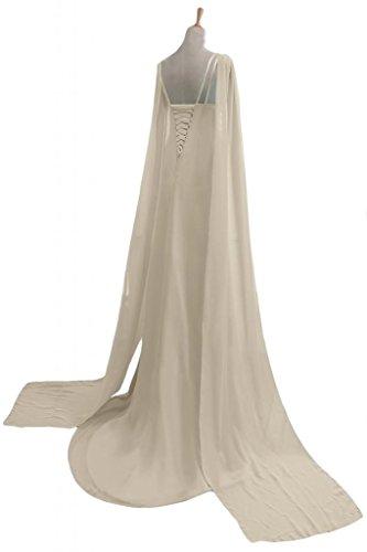 Sunvary donna in Chiffon A-line-Cinghie per Spaghetti, per abiti da sera o da cerimonia, con scollo A V Champagne