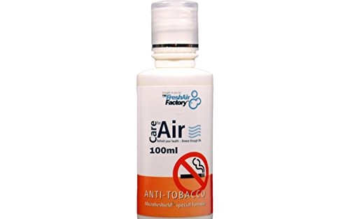 FRAGRANCE FOR AIR PURIFIERS - CareforAir Anti Tobacco Fresh Citrus Scent 100ml - Citrusy and Fragrant Smell - Removes Smell and Odours from Smoking Cigars and Cigarettes - Clean, Great Smelling Air - Compatible with REVITALIZERS & HUMIDIFIERS - 100% Product Satisfaction Guarantee
