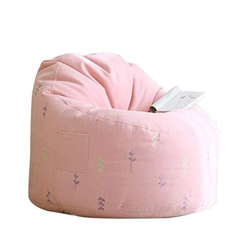 Sitzsack Stühle Für Jugendliche Lazy Sofa Kids High Back Outdoor Room Geeignet Für Spielzeug Lagerung BBB (Color : Pink) -
