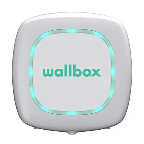 Wallbox Pulsar Caricatore per Auto Elettriche. Stazione di Ricarica. Tipo 2. Potenza Massima 22 kW. (Bianco, Cavo da 5 m)