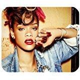 Leonardcustom- personnalisé rectangle en caoutchouc antidérapant Tapis de souris gaming mouse pad/Tapis Rihanna?Lcmpv794