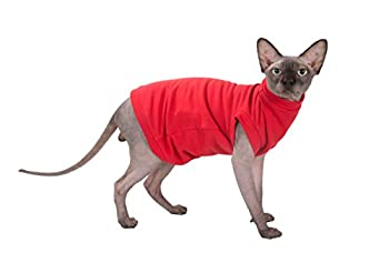 Kotomoda Col roulé chaud maxi pour chat L'hiver en rouge (M)