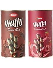 Guru Kripa Dukes Waffy Combo Pack Strawberry Roll, Choco Roll 300+300g