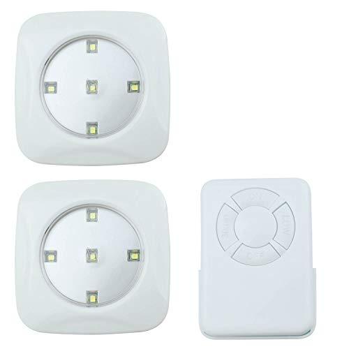 O'Daddy Led Spots Batteriebetrieben mit Fernbedienung, Unterbauleuchten für Kabinett, Schlafzimmer, Treppen. LED Nachtlicht Dimmbar. (Weiß, 3 piece)