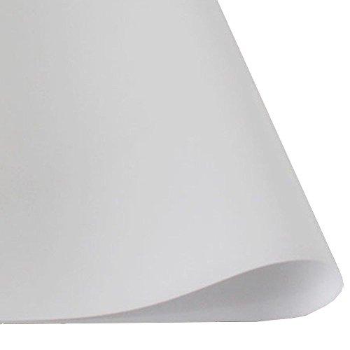 HOHO Fenster Glas Film Licht Mobiltelefon–100% sichtschutz Fenster Tinting Tint Folie Badezimmer Glas Vinyl Aufkleber, weiß, 1.52m*50cm - Vinyl Jalousie Weiss