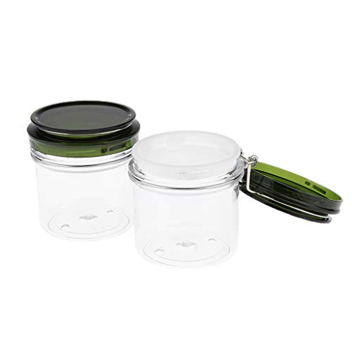 B Baosity 2 Stück Versiegelte Dosen Behälter Topf Kosmetikflasche Behälter Topf Maske Verriegelung Deckel Rund Maske Jar