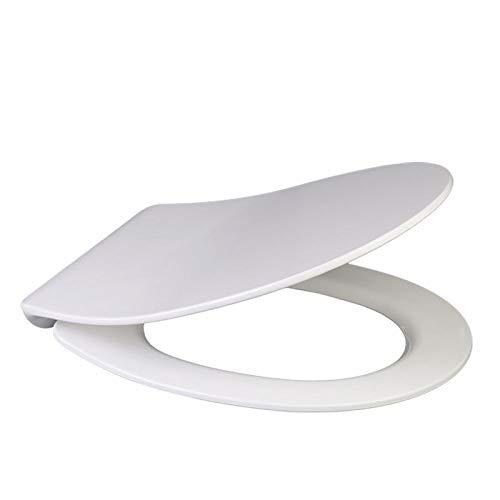 WC-Deckel, Bogen-U-Form kompatibel WC-Sitz Drop Mute Antibakterieller, verstellbarer, hochbeständiger, hochbeständiger WC-Deckel