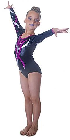 Costumes Flamme - Édition de luxe: Justaucorps Gymnastique à Manches