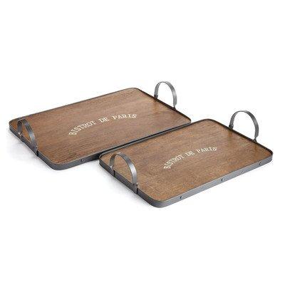 Napa Home & Garden Bistro Tabletts mit Metall Griff, Set von 2 (Style Vanity Set)