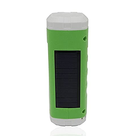LanLan Wireless Speaker Player Support FM Radio TF Card Outdoor Portable Solar & USB Powered LED Flashlight Sidelight Green