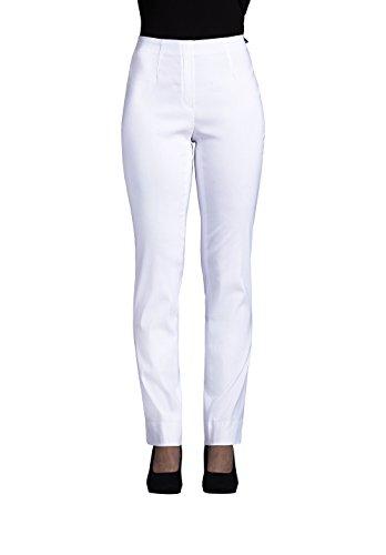 Robell Marie Damen Stretchhose Slim Fit - Sommerkollektion 2016 (36, weiß (10))