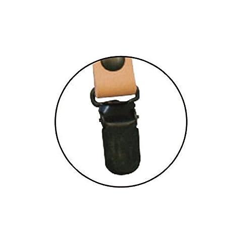 Echtes Leder Griff 60 cm 1 Paar Beige (Jasmin Ein Griff)