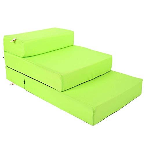 Folding Pet Treppen In 3 Schritten Pet-treppen Atmungsaktive Anti-rutsch Schlafsofa Abnehmbare Waschbar Abdeckung Pet Bett-leiter-grün 70x40cm(28x16inch) -