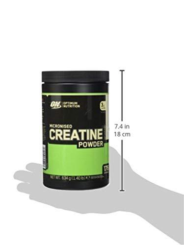 Optimum Nutrition Micronised Creatine Monohydrate- Kreatin-Monohydrat Pulver (hergestellt für Muskelaufbau von ON), Unflavoured, 176 Portionen, 634g - 4