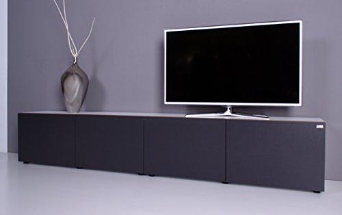 TV Lowboard NOOMO weiß – anthrazit - 2