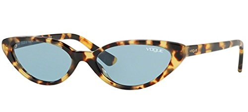 Vogue 0vo5237s 260580 52, occhiali da sole donna, giallo (brown yellow tortoise/bluee)