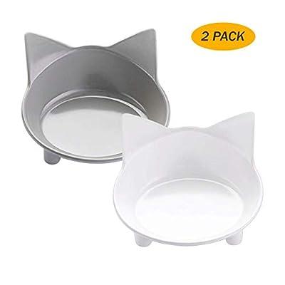 lesotc Cat Bowl, Non-slip Cat Food Bowl, Cat Water Bowl, Cat Feeding Bowl, Cat Dish, Small Dog Bowl, Pet Bowl, Cat Feeder by lesotc