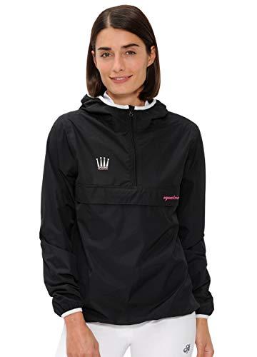SPOOKS Damen Jacke, leichte Damenjacke mit Kapuze, Herbstjacke - Kaya Rain Jacket Black XL