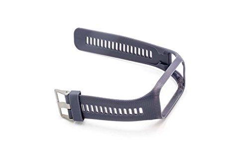 vhbw Armband für Tomtom Runner 2, Runner 3, Spark, Spark 3, Adventure, Golfer 2 GPS-Uhr, Wechselarmband, hellgrau/steingrau