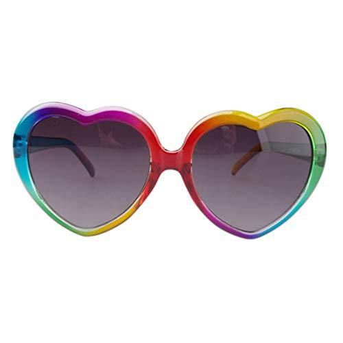 Polarisierte Sonnenbrille mit UV-Schutz Bunte Herz-Form-Sonnenbrille für Kinder Polarisierte Sonnenbrille des großen Mädchens Umwelt-UV-Schutz-Persönlichkeit Lolita-Art-Sonnenbrille für Jugendliche üb