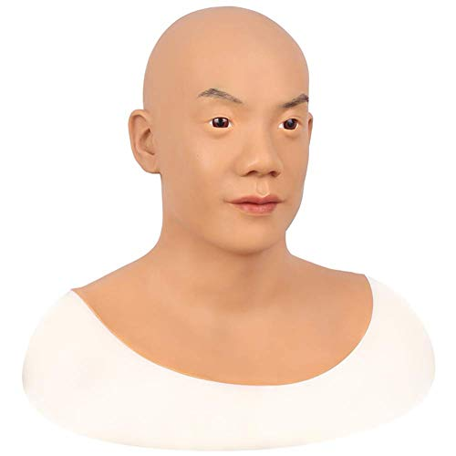 JTYX MASKS Herren Maskerade Maske Halloween Kostüm Party Cosplay Silikon Maske Realistische Männliche - Asiatische Kostüm Männlich