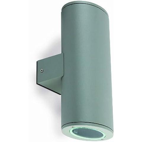 Faro da parete illuminazione–Pistone Grigio Chiaro 2L GU1050W - Pistone Parete