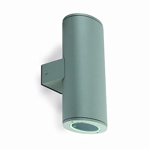 phare éclairage – Piston Applique murale Gris 2 l GU10 50 W - Pistone Parete