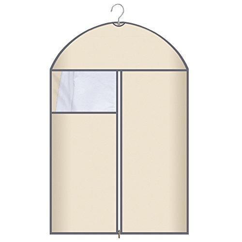 QFFL Sac de compression sous vide Coloré Transparent Dust Cover / Sac en tissu résistant à l'humidité / Manteau Wrinkle Wardrobe Sac de rangement / couverture de vêtements (un Pack de 6) Sac de protection ( Couleur : Beige , taille : C )