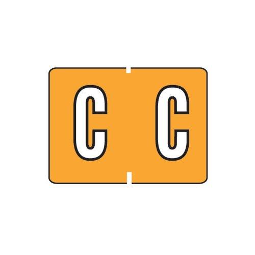 Smead A-Z color-coded etiquetas, C, luz naranja, 252etiquetas por paquete (22023)