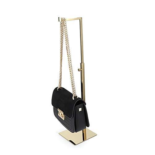 Rosvola Handtaschen-Metallausstellungsstand, justierbarer Taschen-Geldbeutel-einzelner Haken-Regal-Gestell-Stand-Halter für Hauptspeicher (Display-racks, Großhandel)