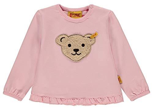 Steiff® Mädchen Sweatshirt Quietsch Bär 'New Basics', Präzise Farbe:Rosa, Größe:104 Bär Sweatshirt