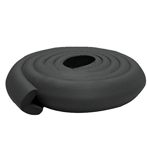 KINGDUO Bc-Sp01 200Cm L Form Dicken Baby-Sicherheits-Ecke Schutzkante Kissen-Schwarz
