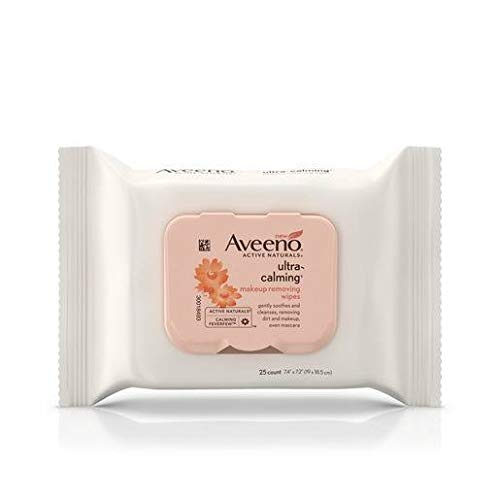Aveeno Wipes, Makeup Removing, Ultra-Calming 25 ct (Pack of 3) by Aveeno