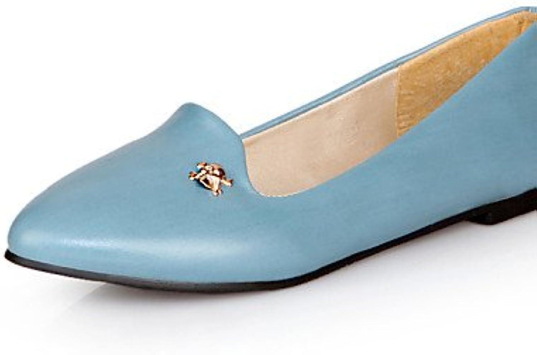PDX/Damen Schuhe Kunstleder Flach Casual Ferse Spitz Toe Wohnungen Casual Flach Schwarz/Blau/Gelb/Rot 48137c