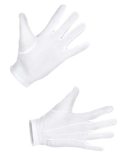 Boland 03081 Handschuhe, Weiß, XL (Herren) (Weiße Chauffeur Kostüm)