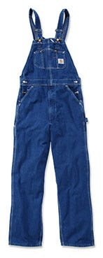 Carhartt R07 Washed Denim Overall - Arbeitsoverall,Darkstone,42W / 32L