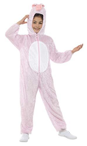 Smiffys Kinder Unisex Schweine Kostüm, Jumpsuit mit Kapuze, Größe: S,  30775